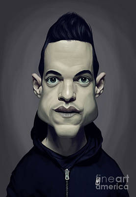 Digital Art - Celebrity Sunday - Rami Malek by Rob Snow