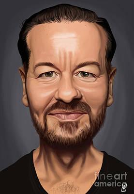 Celebrity Sunday - Ricky Gervais Art Print