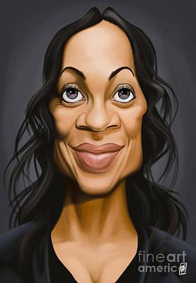 Digital Art - Celebrity Sunday - Rosario Dawson by Rob Snow