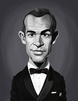 Digital Art - Celebrity Sunday - Sean Connery by Rob Snow