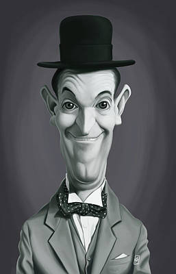 Digital Art - Celebrity Sunday - Stan Laurel by Rob Snow