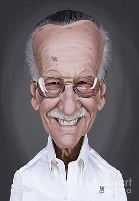 Digital Art - Celebrity Sunday - Stan Lee by Rob Snow
