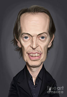 Digital Art - Celebrity Sunday - Steve Buscemi by Rob Snow