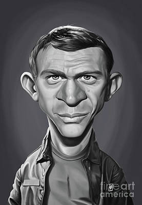 Digital Art - Celebrity Sunday - Steve Mcqueen by Rob Snow