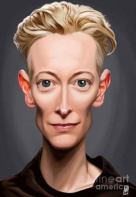 Digital Art - Celebrity Sunday - Tilda Swinton by Rob Snow