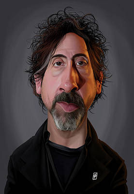 Digital Art - Celebrity Sunday - Tim Burton by Rob Snow