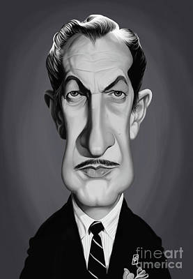 Digital Art - Celebrity Sunday - Vincent Price by Rob Snow