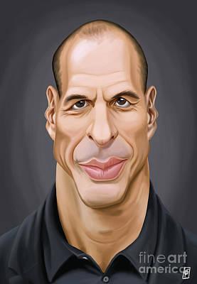 Digital Art - Celebrity Sunday - Yanis Varoufakis by Rob Snow