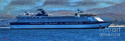 Photograph - Celebrity X Cruises And Little Sailboat  by Blake Richards