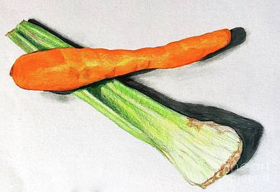 Drawing - Celery And Carrot Together by Sheron Petrie