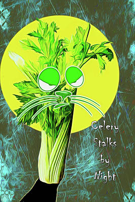 Digital Art - Celery Stalks By Night by John Haldane