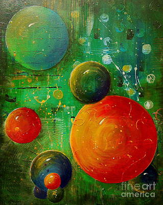 Painting - Celestal Planets by Tamyra Crossley