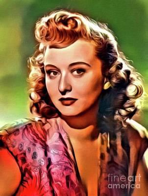 Celeste Digital Art - Celeste Holm, Vintage Actress. Digital Art By Mb by Mary Bassett