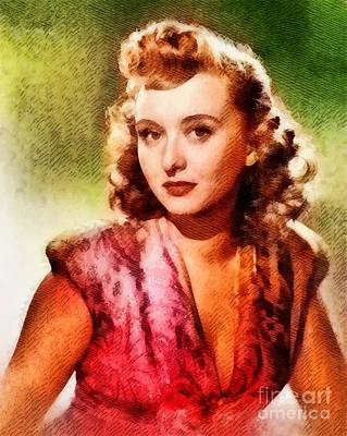 Holm Painting - Celeste Holm, Vintage Hollywood Actress by John Springfield