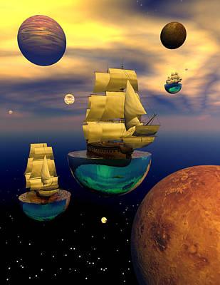 Celestial Armada Art Print