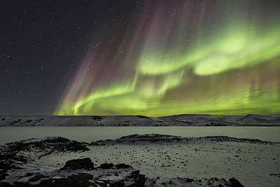 Snow Photograph - Celestial by Bragi Ingibergsson -