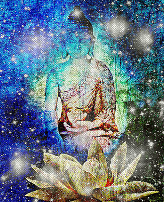 Digital Art - Celestial Buddha by Absinthe Art By Michelle LeAnn Scott