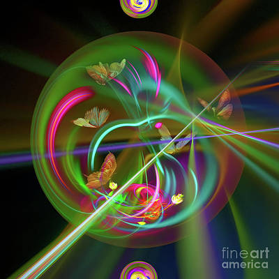 Digital Art - Celestial Butterflies by Olga Hamilton