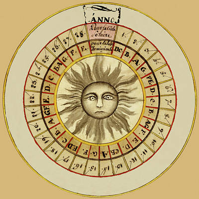 Photograph - Celestial Chart 1522 by Andrew Fare