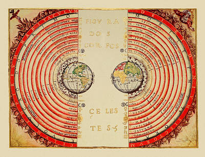 Photograph - Celestial Chart 1568 by Andrew Fare