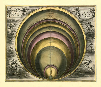 Photograph - Celestial Chart 1708b by Andrew Fare