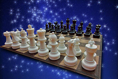 Photograph - Celestial Chess by Mike Flynn