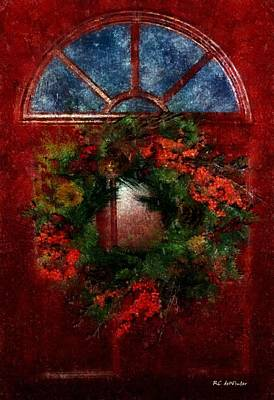 Painting - Celestial Christmas by RC deWinter