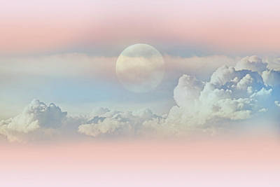 Photograph - Celestial Clouds And Moon by Jennie Marie Schell