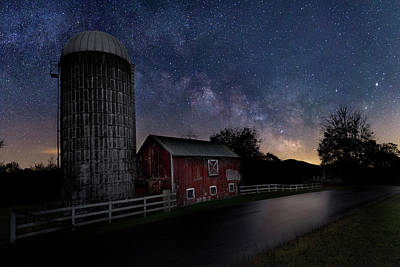 Silos Photograph - Celestial Farm by Bill Wakeley