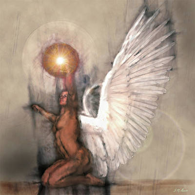 Angelic Mixed Media - Celestial Glory by Michael Durst