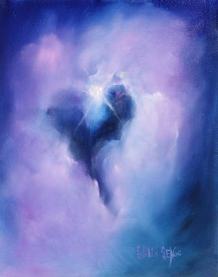 Celestial Heart Art Print by Sally Seago