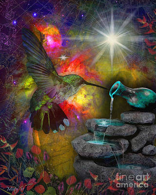 Painting - Celestial Hummingbird by Misty Frederick-Ritz