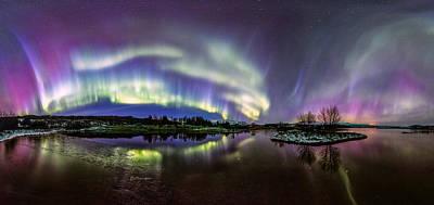 Photograph - Celestial Lights by Sigurdur William Brynjarsson