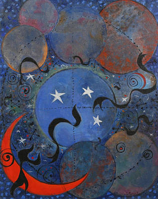 Celestial Painting - Celestial Magic by Susan Rinehart