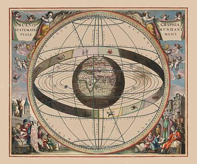 Photograph - Celestial Map 1660g by Andrew Fare