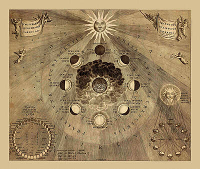 The Heavens Photograph - Celestial Map 1710b by Andrew Fare
