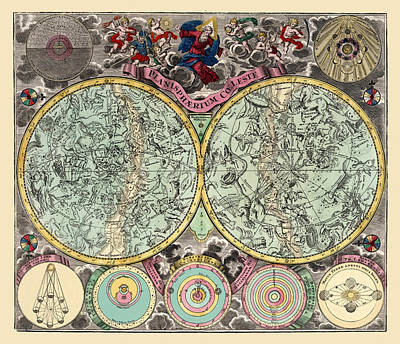 Photograph - Celestial Map 1730b by Andrew Fare
