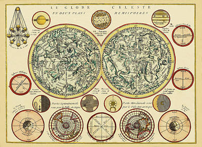 Photograph - Celestial Map 1748b by Andrew Fare