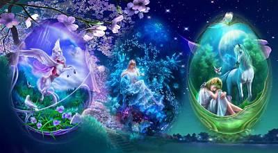 Fantasy Digital Art - Celestial by Maye Loeser