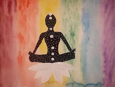 Chakra Rainbow Painting - Celestial Meditation by Vale Anoa'i