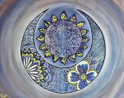 Wall Art - Painting - Celestial Nights by Carol Iyer