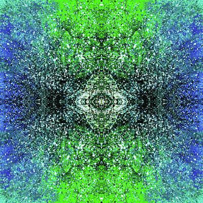 Fireworks Mixed Media - Celestial Projections Of The Cymatics Patterns #1459 by Rainbow Artist Orlando L aka Kevin Orlando Lau