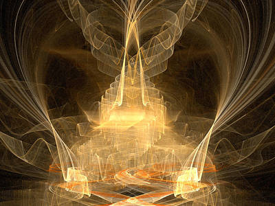 Art Print featuring the digital art Celestial by R Thomas Brass