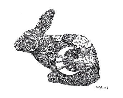 Celestial Rabbit Art Print