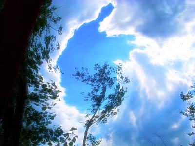 Celestial Skies Into The Sky Art Print