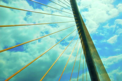 Photograph - Celestial Skies Sunshine Skyway by Aimee L Maher Photography and Art Visit ALMGallerydotcom
