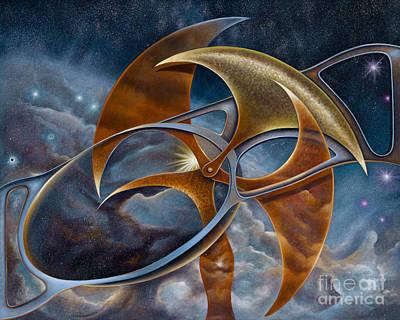 Painting - Celestial Timekeeper by Birgit Seeger-Brooks