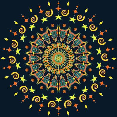 Digital Art - Celestial Yayas by Ronda Broatch