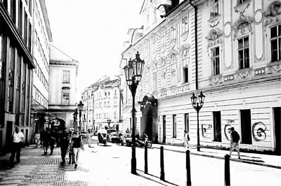 Old Prague Photograph - Celetna Street. Walk In Old Prague by Jenny Rainbow
