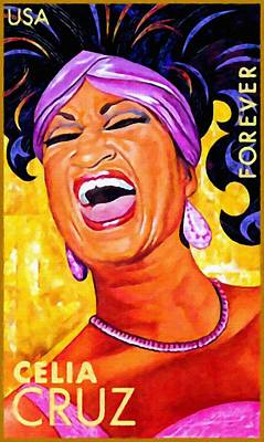 Cuban Music Painting - Celia Cruz by Lanjee Chee